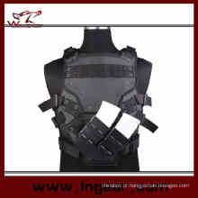 Veste de armadura de corpo airsoft transformador TF 3 ninho com 2 bolsas de Fastmag