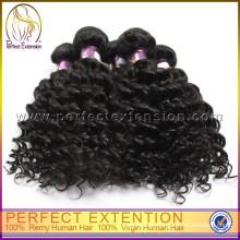 Precios máquinas de coser rizado rizado 100 cabello humano tejido trenzado del pelo