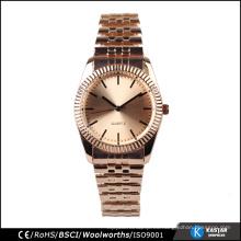 Reloj resistente al agua relojes pulsera 20mm, reloj de chapado en oro rosa
