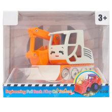 Boy Gift Plastic Engineering Camión Excavator Toy Car
