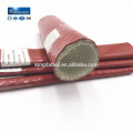 Große Durchmesser bunte Silikonkautschuk beschichtete E-grade Fiberglas Fire Sleeve