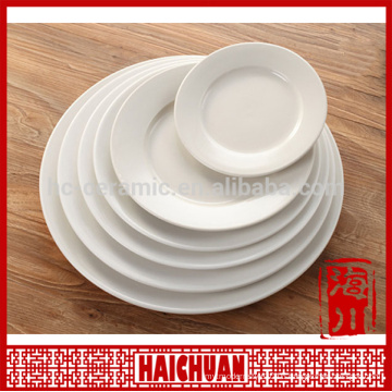 17 inch pure white color logo decal personalized rectangular compartment sushi plate and dish