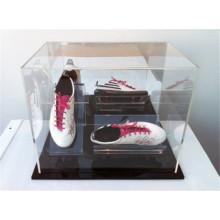 Loja de comércio de calçados originais Sapatos de corrida de um único par de pequenas caixas de exposição de cubos acrílicos transparentes