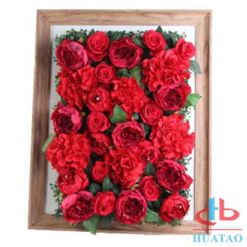 Dekorasi Pernikahan Backdrop Artificial Rose Wall