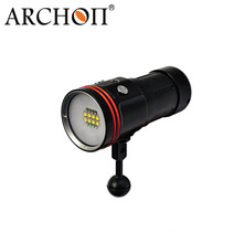 5200 люмен светодиодный фонарик для подводного видео с батареей + зарядное устройство