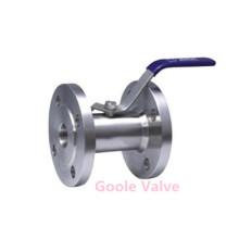 Flangeada 1pc uni-bodw de aço inoxidável válvula de esfera de flutuação (q41f)