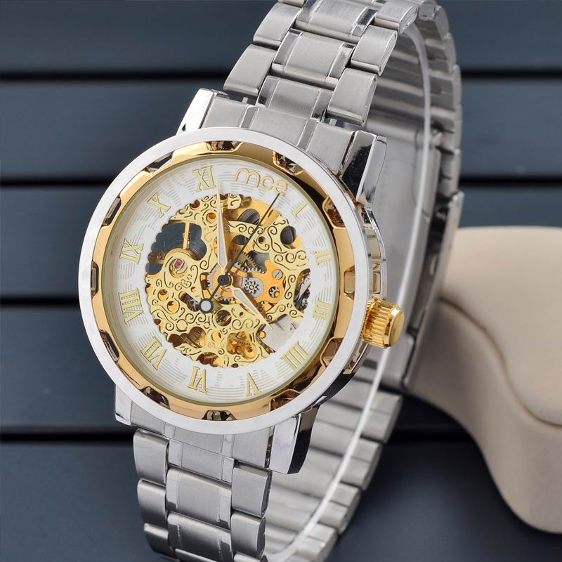 Gold automatic bangle small men's wrist watch