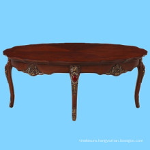 India style luxury wood carved MDF center table design