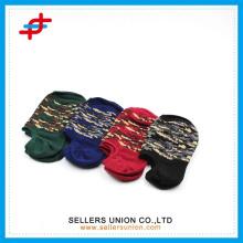 Coton camouflé bouche peu profonde invisible chaussettes personnalisées en gros