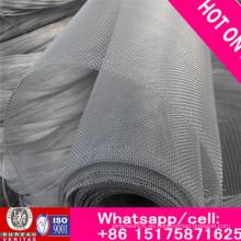 Malla de alambre de aluminio revestida de la resina de epoxy de la fábrica ISO9001 / red de insectos negra de la red de alambre de la pantalla de la ventana