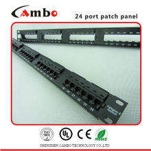 Factory Price electrical patch panel High-Density 1U (24 port) Apply Cat5e/6/6A Type
