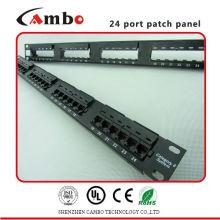 Painel de patch elétrico de preço de fábrica High-Density 1U (24 portas) Aplicar tipo Cat5e / 6 / 6A