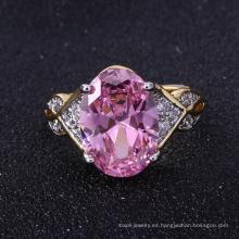 Los últimos diseños del anillo de plata del oro para las muchachas de la joyería de la joyería suenan el nuevo anillo de dedo de plata del oro del diseño