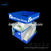China durable exhibition booth double two story display stand