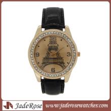 Fashion Rosegold Eiffel Tower Wrist Watch for Lady