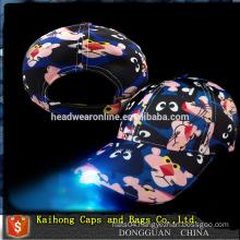 2016 Hot selling LED baseball cap with LED light on the visor
