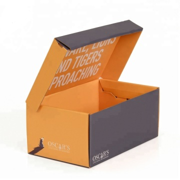 Corrugated Paper Shoe Packaging Box with Logo