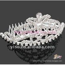 Pente de tiara de cristal casamento