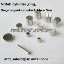 Gesinterte Magnete Permanent Neodym-Zylinder angepasst