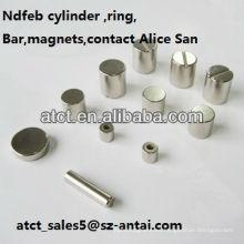 Imanes sinterizados de modificado para requisitos particulares permanentes neodimio cilindro