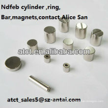 Sintered Customized Permanent Neodymium Cylinder magnets