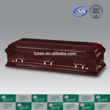Fabricante del ataúd LUXES Popular Venta fúnebre ataúd Bordeaux