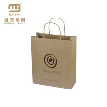 Высокое Качество Дешевые Логотип Напечатан Коричневый Несущей Покупкы Изготовленный На Заказ Изготовление Китая Мешка Kraft Бумажного