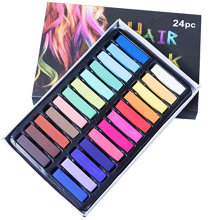 Temporary Hair Chalk Tidak Beracun Rainbow Coloured Dye Kit