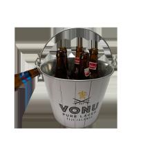 ведро льда горячего пива сбывания гальванизированное подарком с консервооткрывателем бутылки