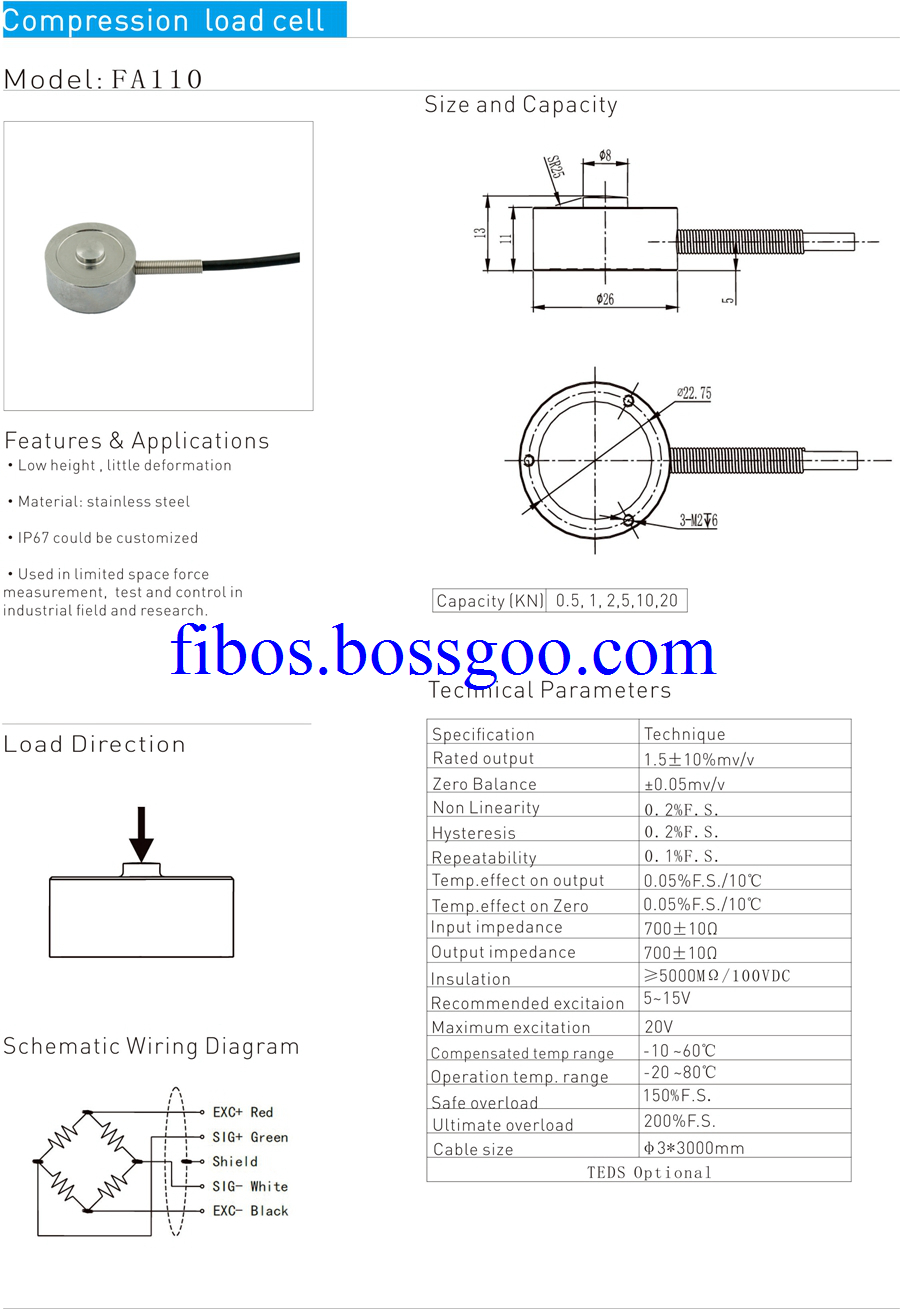 compression load cell 110C