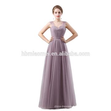 Vraie image sans manches longue robe de cocktail élégante pleine longueur robe de soirée en mousseline de soie verte sans manches