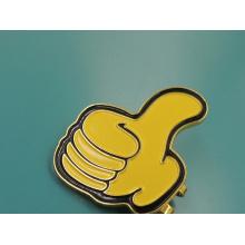 Clip de sombrero de alabanza chapado en oro para regalo promocional