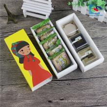 süße Lebensmittelqualität bunte Kekse Verpackung Schublade