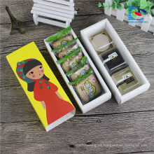 caja de cajones de empaquetado lindo de las galletas coloridas de la categoría alimenticia