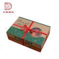 Factory OEM customized size fruit packaging gift paper box with handle