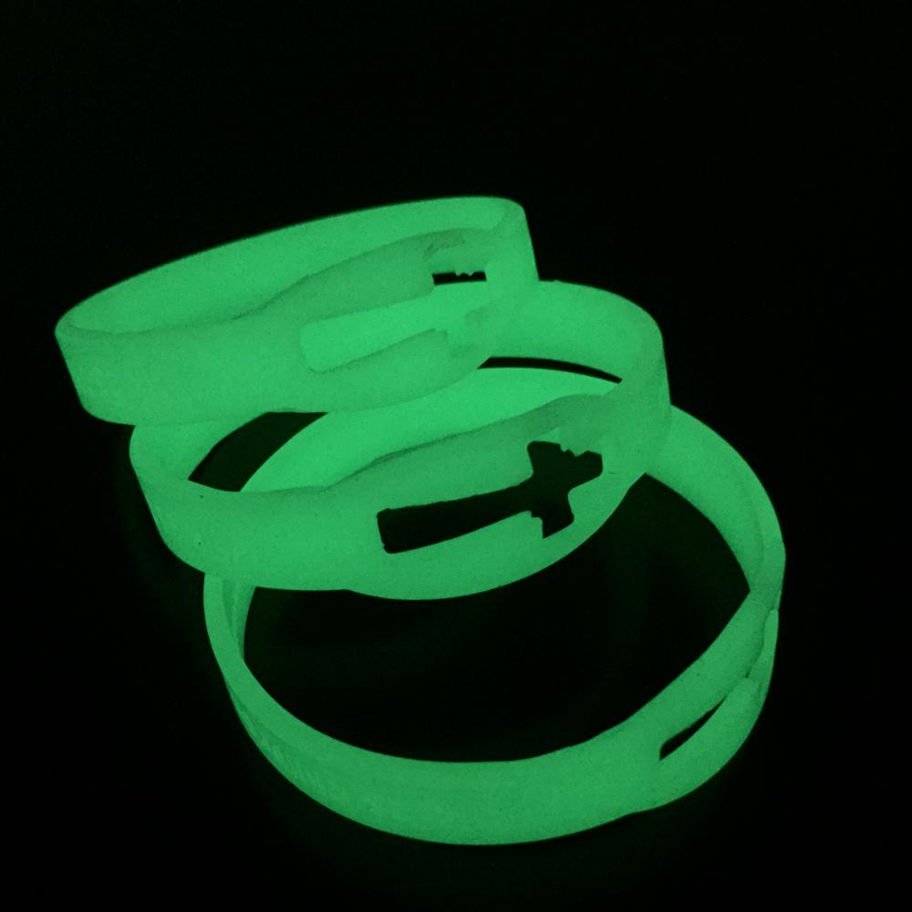 Glowing in the dark wristbands