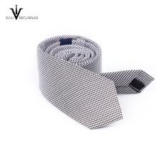 Cravate personnalisée de logo de compagnie de polyester d'hommes