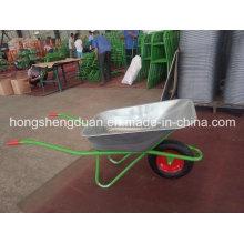 China La carretilla de rueda tiene galvanizar la bandeja