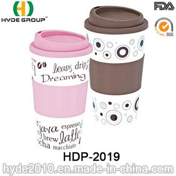 Прочная Двойная стена bpa бесплатно Пластиковые кружка кофе (ДПН-2019)