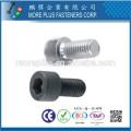 Taiwan DIN Standard Inox M2 Precise Hexagon Socket Vis à tête ronde moletée Vis à tête creuse