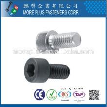 Taiwan DIN Standard Edelstahl M2 Präzise Sechskant Steckdose Rändel Rundkopf Schraubensockel Kopf Kappe Schraube