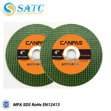 Ferramentas abrasivas do disco de lustro do verde da roda do corte para a venda