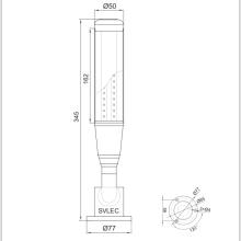 Torre de luz LED com campainha