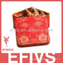 Delicada caja de favor de la boda del estilo chino rojo hecho en China