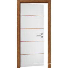 Tubular Partical Board White Flush Door with Metal Strips