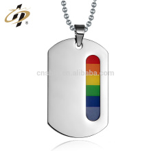 Custom Statement Stainless Steel Choker Rainbow Gay Pride Charm Pendant Necklace