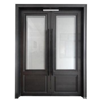 Cheap price aluminium glass double entry doors