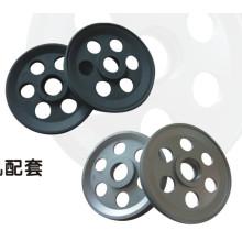 polea de aluminio para la línea de extrusión de alambre y cable / rueda de guía Cuatro acanaladuras de revestimiento de alambre de cerámica de ranura