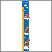 New design high quality flexible folding kids height measurement plastic wall sticker growth chart