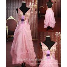IN STOCK Hombro-correas vestido de fiesta sin mangas mujeres vestido de fiesta vestido de baile SE107